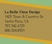 Contact La Belle Fleur Florist Shop